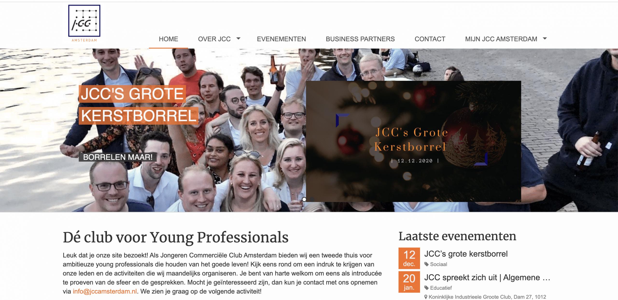 JCC vereniging website